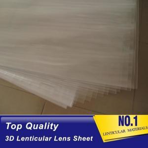 China 100lpi 0.58mm PET lenticular sheet 3d lenticular plastic film lenticular printing sheet lenticular sheet importer in usa on sale