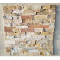 China Slate panels for wall natural rusty cultured stone veneer exposed wall stone on sale