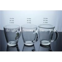 China clear glass beer mug with handle for wholesale on sale