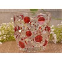 Buy cheap Home Decorative Glass Candle Holders  , Glass Candlestick Holders Hobnail Dots Emboss from wholesalers