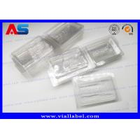 China PVC Clear Ampoule Blister Packaging Tray For Medication 2ml Vials  Engrave Embossing on sale