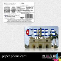 China Paper Prepaid Calling Card For Cell Phone wholesale