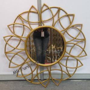 China Bathroom Metal Mirror Wall Decor Gold Iron Frame Powder Coating Gold Iron Frame wholesale