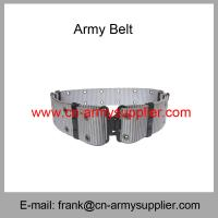 China Wholesale Cheap China Military PP Army Metal Bucklet Police Security  Belt wholesale
