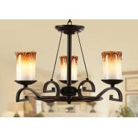 China 3 Light Bordeaux Classic Wrought Iron Chandelier , Dining Room Chandeliers Lighting wholesale