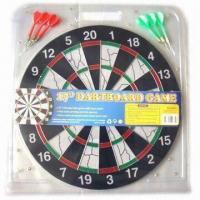 China Flocked Dart Board, Can Print Customized Logos, Made of Coil Paper, Measures Ø17-inch wholesale