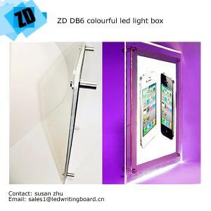 China Crystal arylic panel colourful led light box wholesale