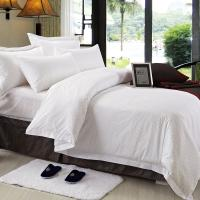 Buy cheap Double Size Hotel Bedding Linen Plain White Color And 400T With 100% Cotton from wholesalers