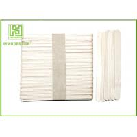 China Different Size Wooden Popsicle Sticks / Wooden Ice Cream Spoons With Hot Stamp wholesale