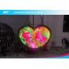 China Heart Shape Flex LED Panel / Ultra Thin Flexible Display Screen 1000nits wholesale