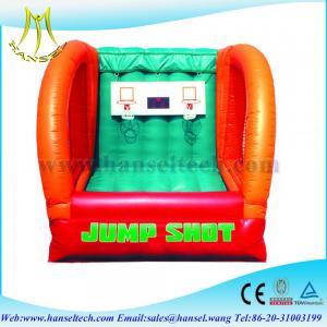 China Hansel Interesting basketball sports game,inflatable basketball game wholesale