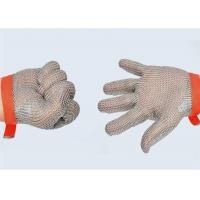 Buy cheap 0.53mm Diameter Safety Metal Gloves With Eva Strap , Stainless Steel Mesh Safety Gloves from wholesalers