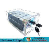 China Acrylic Casino Game Accessories Dealers Card HolderFor 6 Decks Playing Cards wholesale