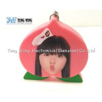 China Cute Pink Peach Shaped Musical Keyring Custom Talking Keychain wholesale