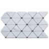 China Triangle Dots Carrara Marble Mosaic Tile , Decorative Mosaic Tiles Honed Finish wholesale