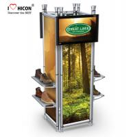 China Clothing Store Fixtures 4-way Footwear Shop Display Stand Metal Shoes Display wholesale