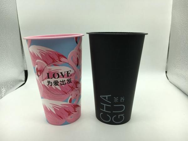 Quality 3D Lenticular Printed Plastic Cups With Lid And Red Heart Stopper Water Mug for sale