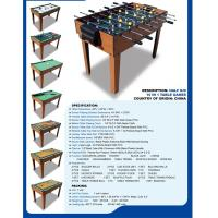 China Popular 10 In 1 Multi Game Table Wood Grain Color With Different Game Toy wholesale