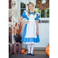 China Holiday / Carnival Teenage Girl Halloween Costume Child Deluxe Alice Dress wholesale