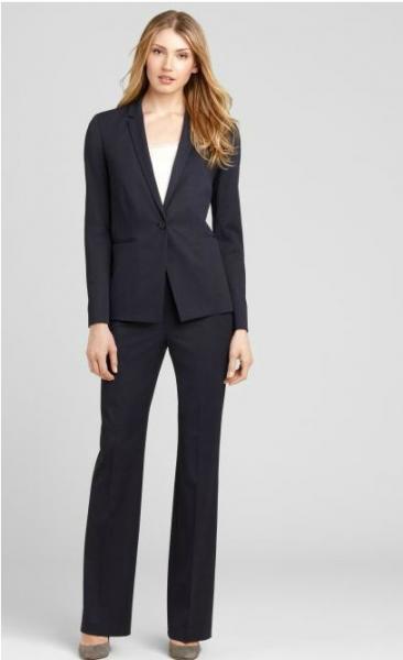 Quality Office Uniform Ladies Business Suits , American Style Plus Size Women Work Suits for sale