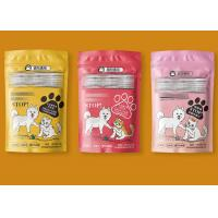 China Anti - Counterfeit Plastic Zipper Pouch For Dog And Cat Food Gravure Printing wholesale