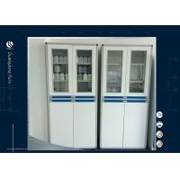 Buy cheap Two Section Solvent Storage Cabinet Grey Color Aluminum Wood MDF from wholesalers