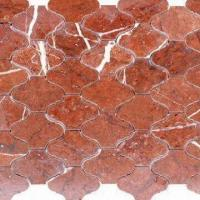China Coral Red Marble Mosaic with 10mm Thickness and Measuring 15 x 15/305 x 305mm in Various Desings wholesale