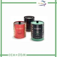 Round Tube Candle Packaging Boxes ,  Luxury Package Box With Ribbon