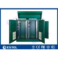 China Stainless Steel IP65 Outdoor Rack Cabinet Dual Bay Integrated With Intelligent Thermal Management wholesale