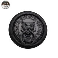 China Round Jacket Custom 3D Rubber Patches , Embroidered Decorative Patches For Clothes wholesale