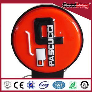 China Newest Design Round Light Box Acrylic Signage Double Sided on sale