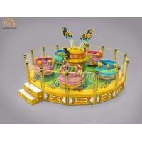 China Large Rotating Crazy Dance Ride Coffee Tea Cup Game 16p Capacity 2000kg Weight wholesale