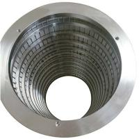 China stainless steel wedge wire screw press screen for equipment on sale