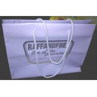China Gravure Printed Soft Packaging Poly Bags With Rope Handle , Plastic Shopping Bag wholesale