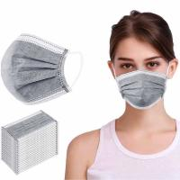 China Non Woven Disposable Dust Mask , Triple Layer Surgical Mask Liquid Proof on sale