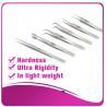 China Silver Eyelash Extension Tweezers false eyelash applicator tool anti - scratch wholesale