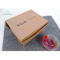 China Plant Based Lining Brown Takeaway Boxes Kraft Hot Food Boxes For To Go Lunch wholesale