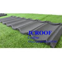 China Economically Stone Coated Steel Roof  Tile 0.4mm thickness , Stone Coated Steel Shingles wholesale