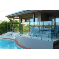 China Frameless No Holes Pool Fencing Glass Panel Heat Soaked Toughened wholesale