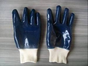 Quality Knit Wrist PVC Coated Gloves for sale