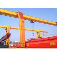 China 3~20 Tons Rail Mounted Gantry Crane Single Beam With Electric Hoist / Strong Winch on sale