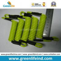China Strong Short Strong Solid Lemon Green 5.0mm Coil Lanyard Tether wholesale