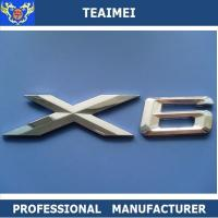 China Car Sticker X6 Chrome Letter Custom Car Emblems with Chrome Plated Finish wholesale