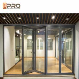 China Heat Insulation Aluminum Folding Doors Customized Color 2.0MM Door Frame Bi folding exterior doors aluminium folding doo on sale