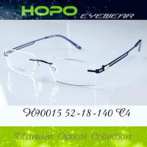 China 2014 fashion new promotional Hot sale italy design rimless OPTICAL FRAMES-TITANIUM H90015 wholesale