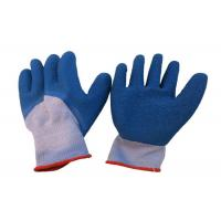 China Flexible Latex Coated Work Gloves 3 / 4 Dipped Crinkle OEM Service wholesale