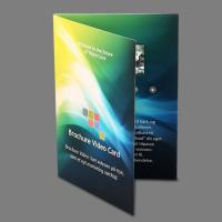 China 5 Inch Lcd Video In Print Brochure Personalized Video Greeting Cards wholesale