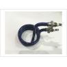 China Plating Bath Glazed Tubular Heater With Threaded Flange Fittings Custom Sizes wholesale