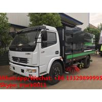 China 2019s HOT SALE! new best price Dongfeng 120hp diesel road washing sweeper truck street washing and sweeping vehicle wholesale