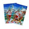 China Merry Christmas plastic 3d lenticular lens printing sticker flip animation Wall Sticker wholesale